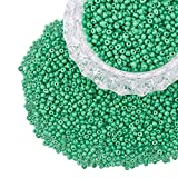 PandaHall 6/0 Glass Seed Beads Round Pony Bead Diameter 4mm About 4500Pcs for Jewelry DIY Craft Green Opaque Colours