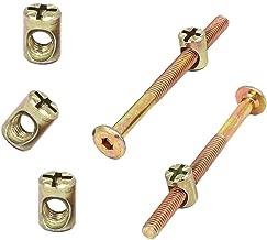 SpeedDa M6x90mm Thread Hex Key Drive Socket Furniture Bolt w Barrel Nut Bolt Nuts Assortment Kit for Furniture Cots Beds Crib and Chairs(Pack of 16)