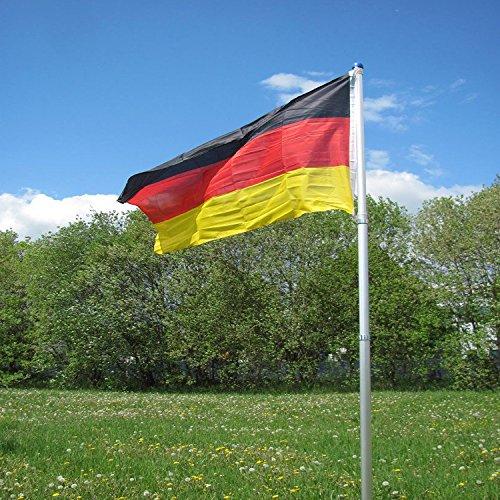 Mojawo Teleskop Fahnenmast Teleskopmast Alumast inkl. Deutschlandflagge Europameisterschaft Weltmeisterschaft H4m