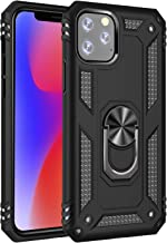 IP 11Pro Max Case Ring Holder Rugged Compatible Apple iPhone 11 Pro Max Cases for phone11max Aphone i iphone11pro 11p i11 11max 11pmax Phone Shockproof Protective New 2019 6.5 Inch (Black)