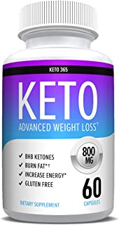 Keto Diet Pills That Work - Weight Loss Supplements to Burn Fat Fast - Boost Energy and Metabolism - Best Ketosis Supplement for Women and Men - Nature Driven - 60 Capsules