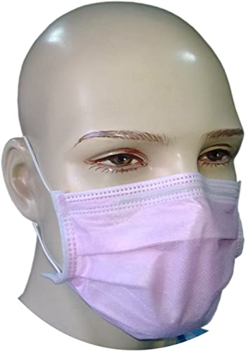 Filtra 4-Ply Ear Loop Surgical Face Mask - Pink 50 Pcs (BFE > 99%) TT-4PEM