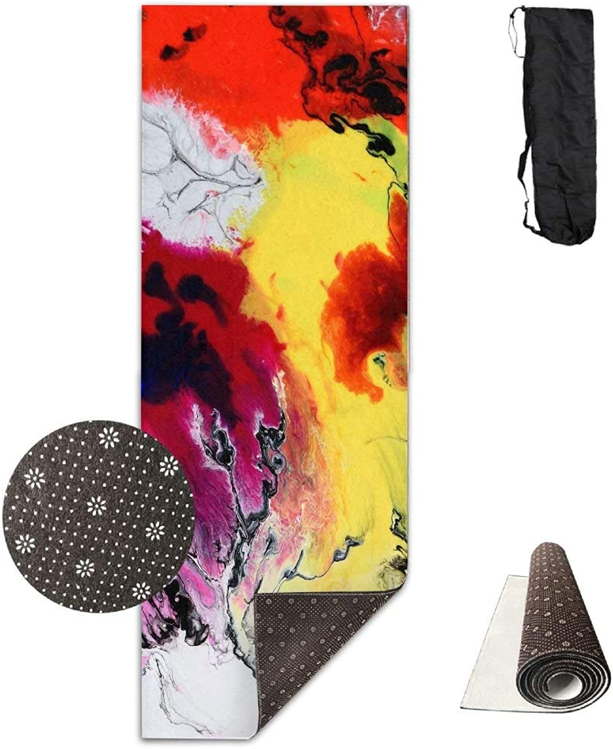 Abstract Watercolor Art Yoga Mat  Advanced Yoga Mat  NonSlip Lining  Easy to Clean  LatexFree  Lightweight and Durable  Long 180 Width 61cm