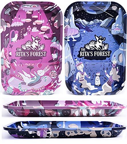The Rita´s Forest - Bandeja de Liar - 29 x 19 x 2,5 cm - 2 Unidades - Pintada Doble Cara ( Edición Limitada )