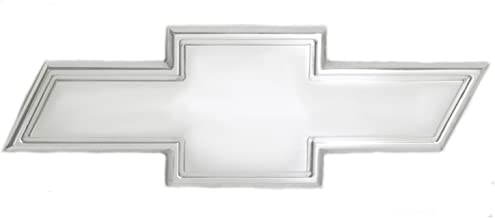 All Sales 96092P Ami Chevy Bowtie Tailgate Emblem with Border, Silver