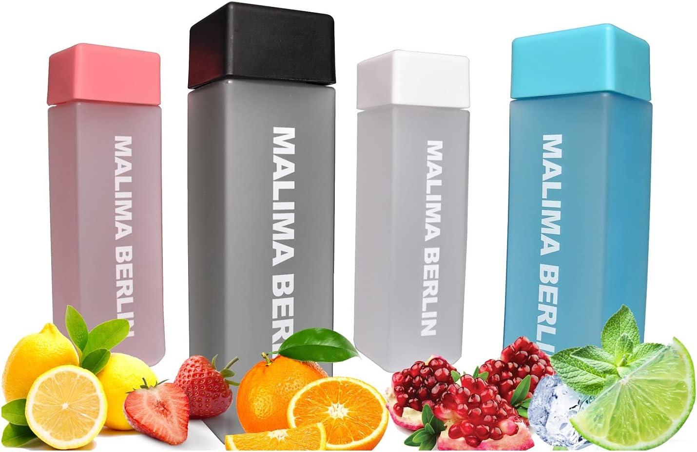 MALIMA BERLIN Botella de 450 ml, antigoteo para deportes, fitness, exterior, senderismo. 100% libre de BPA