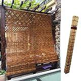 L-DREAM Persianas De Caña Estores De Bambú Exterior 140cm, Cortina De Caña para Sala De Cama, Ventanas Y Puertas, Sala De Arte, Sombra Balcón, Estores Enrollables De Madera