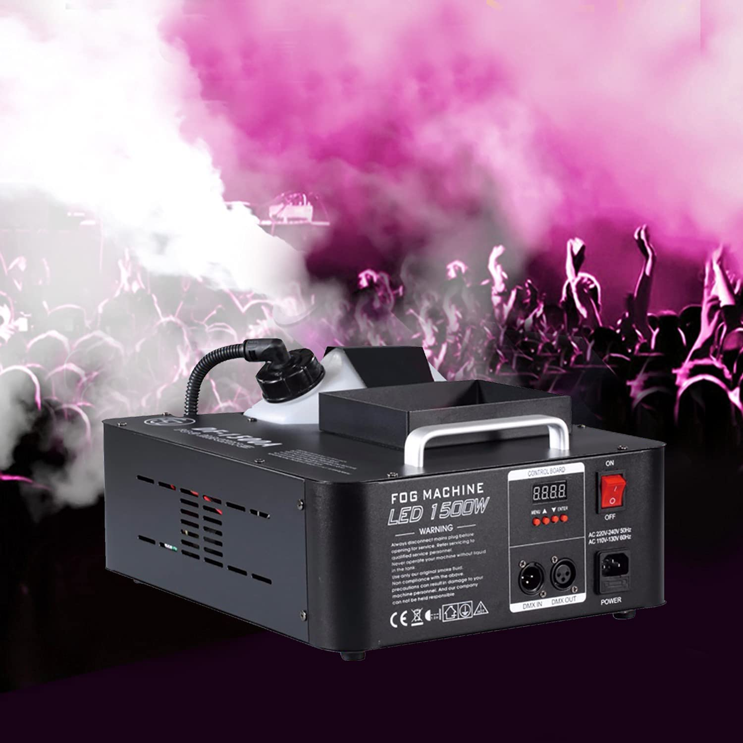 Stage Fog Max 64% OFF Machine Long Beach Mall Led 1700w Color Can Be Or Change Hung
