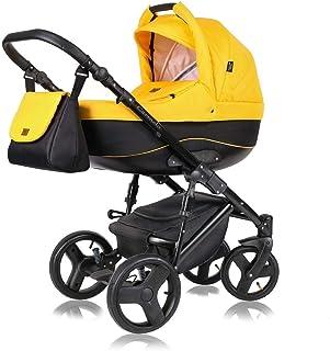 Stroller 3 en 1 juego completo con asiento de coche Isofix baby tub baby carrier Buggy Carmelo Black de ChillyKids Sunny B...