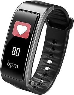 BD.Y Monitor de frecuencia cardíaca Fitness Tracker de 0,96 Pulgadas Negro, Plateado (Color: Plateado)