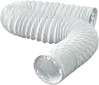 Dundas Jafine FD420ZW Flexible White Vinyl Duct, 4-Inches by 20-Feet, 4