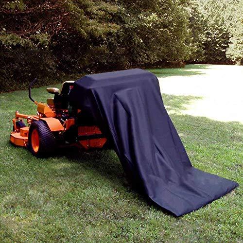 Empty Leere tragbare Garden Park Rasentraktor Blattsack Reiten Gras Kehrmaschine Müllsäcke 54 Kubikfuß Außenhof Abfall Abfallbehälter, Dunkelblau