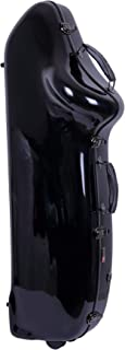 Crossrock Baritone Saxophone Case, Fits Low A & Bb, Fiberglass Hardshell With Backpack Straps, Black (CRF1000BSBK)
