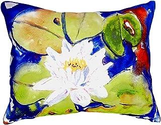 "Betsy Drake NC171 Lily Pad Flower No Cord Pillow,,16"" X20"""
