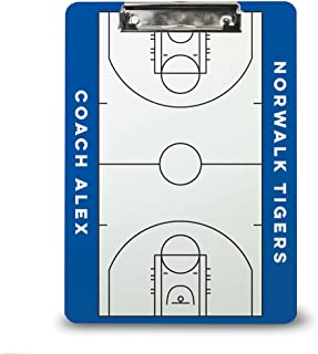 Basketball Coach Board | Dry Erase Coach Clipboard by ChalkTalk Sports | Multiple Colors