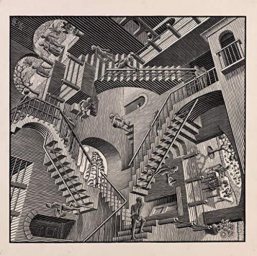 Berkin Arts Maurits Cornelis Escher Giclee Lienzo Impresión Pintura póster Reproducción (Escalera)