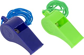 OFXDD Coach Whistle - Pack of 2 - Lastic Sport Lanyard Whistle - Referee Cheer Whistle