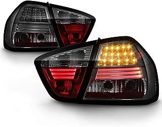 ACANII - For 2005-2008 BMW E90 4-Door Sedan 3-Series Smoked Lumileds LED Tail Lights Brake Lamps Driver & Passenger