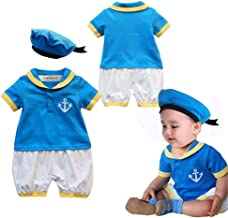 stylesilove Baby Boy Duck Cotton Costume Romper and Hat 2 Pieces