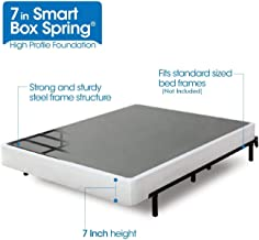 Zinus Armita 7 Inch Smart Box Spring / Mattress Foundation / Strong Steel Structure / Easy Assembly Required, Twin