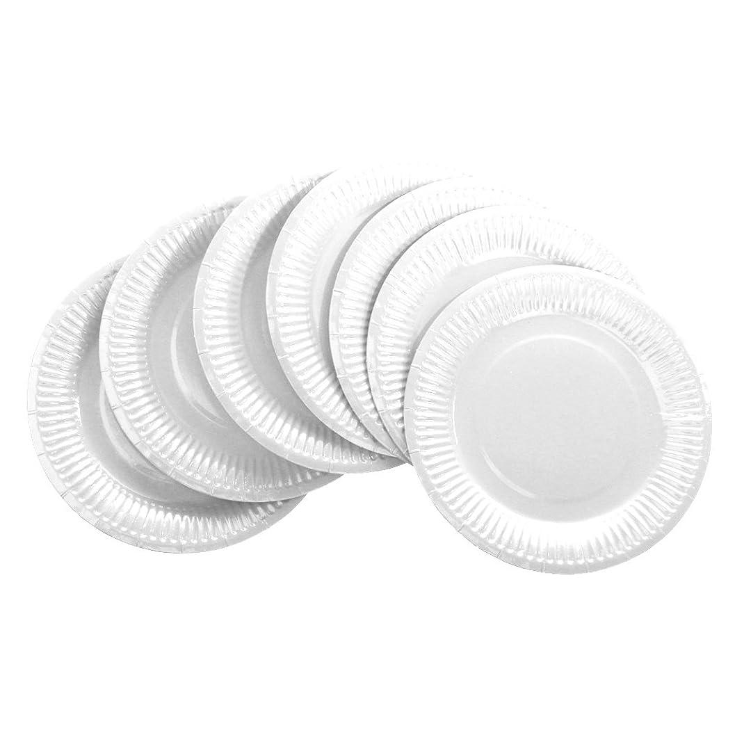 遮るささやきマーカーSONONIA 10個入り 食器 誕生日パーティー 小道具  使い捨ての紙皿 DIYの工芸品 装飾 10色選ぶ  - 白