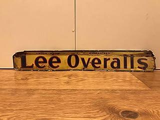 本物 Vintage 1960s Lee Overalls ビンテージ リー オーバーオールズ アドバタイジング 看板 デニム 古商品