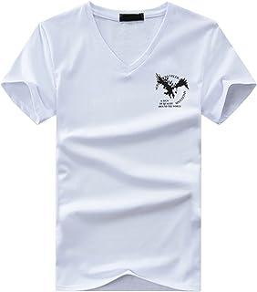 BUZZxSELECTION(バズ セレクション) Tシャツ 半袖 Vネック おしゃれ イーグル ロゴ プリント メンズ レディース BSTS007