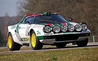 絵画風 壁紙ポスター (はがせるシール式) ランチア ストラトス HF Gr.4 1971年 世界ラリー選手権カー WRC キャラクロ LCST-001W1 (ワイド版 921mm×576mm) 建築用壁紙+耐候性塗料