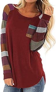 تي شيرت HUHHRRY نسائي كاجوال اللون كتلة قصيرة الأكمام قميص تونك توب بلوزة
