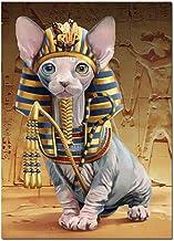 Taladro Cuadrado/Redondo Completo Gato Egipcio Arte De Mosaico Diy 5D Diamante Pintura Reina Diamante Bordado Venta Kits De Punto De Cruz 12