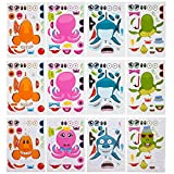 Kicko Make Your Own Stickers - Make a Sea Creature and Fish Sticker Sheets - 12 Pack Assorted - for...