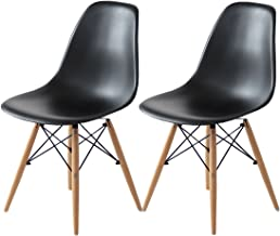 Tansu no Gen 14810015 Eames Chair, DSW Dining Chair, Designer Furniture, Reproduction, 2 Chair Set