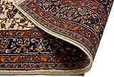 Lifetex.eu Teppich Keshan ca. 120 x 175 cm Beige handgeknüpft Schurwolle Klassisch hochwertiger Teppich - 6