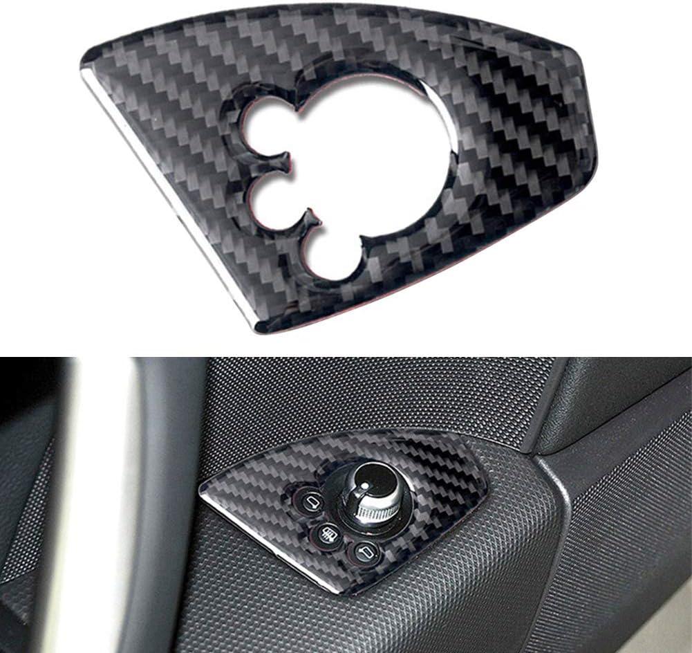 Yuejing Car Genuine Carbon Fiber Door Lock Switch Panel Trim Cov
