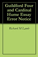 Guildford Four and Cardinal Hume Essay Error Notice