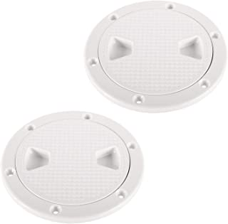 DasMarine 2Pack of 4 inch Hatch Round Non Slip Inspection Hatch w/Detachable Cover for Marine Boat Yacht,  5.6 External Diameter,  4 Opening Size