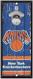 "WinCraft NBA New York Knicks Bottle Opener5x11 Wood Sign Bottle Opener, Team Colors, 5""x11"""