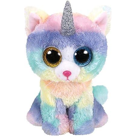 Ty TY36250 Beanie Boo's Heather el gato unicornio 15 cm