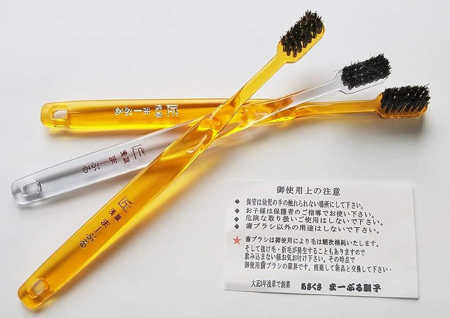 エキゾチック開業医検証浅草まーぶる刷子 匠 馬毛歯ブラシ お試し3本セット (普通2?柔らか1)