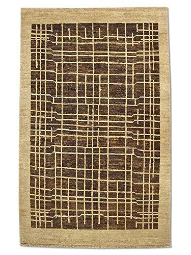 Pak Persian Rugs handgeknoopt Gabbeh tapijt, taupe, wol, small, 123 x 194 cm