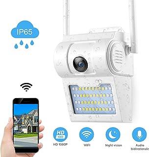 Fredi - Cámara WiFi Exterior con LED Externo videocámaras de vigilancia Wi-Fi Exterior