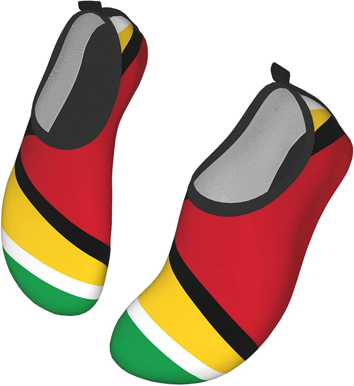 Flag of Guyana Water Shoes for Women Men Quick Dry Aqua Socks for Water Sports Yoga Exercise