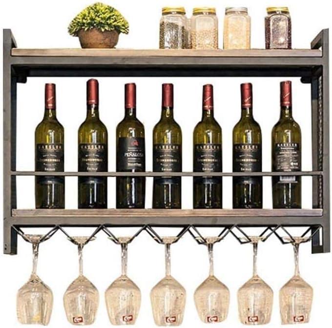 BINGFANG-W Wine Rack Retro Wooden Ranking TOP18 Wall f Storage Metal 35% OFF
