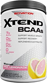 XTEND Original BCAA Powder Pink Lemonade | Sugar Free Post Workout Muscle Recovery Drink with Amino Acids | 7g BCAAs for M...