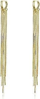 Best long chain earrings gold Reviews