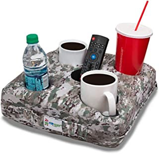 Cup Cozy Deluxe Pillow (Camo)- The world's BEST cup holder! Keeps drinks close.Stops spills.Use it on the couch, bed, car, RV, park, camping, beach and more!