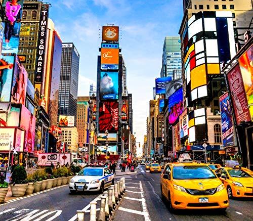 TEXTIL TARRAGO Fouta Gigante estampación fotografica 4D 210x240 cm 100% algodón Times Square New York FHD12
