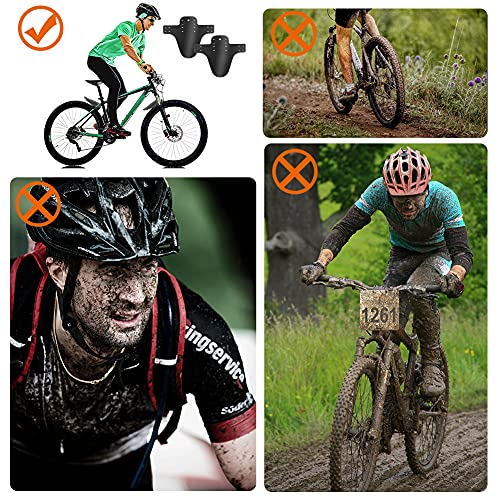 Mountian Bike Fender 2 Pcs, Geila Front and Rear Bicycle Fender, Mountain Bike Mudguards Set, MTB Mud Guard, Folding Bicycle Mud Guards, Waterproof Bike Fenders, Fits 650B 20