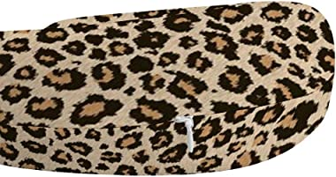 NiYoung Breathable Comfortable Cool Leopard Skin Neck Pillow Soft Memory Foam U Shaped Travel Pillow for Airplane Home Office Car