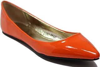fbe495b490b0 Walstar Women s Classic Pointy Toe Ballet PU Slip On Patent Leather Flats